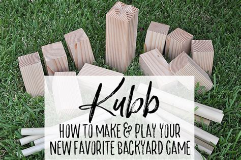 Ancient Chess Set how to play kubb make your own a diy giant backyard