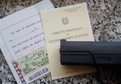 validita porto d armi porto d armi non pi 249 obbligatori i certificati