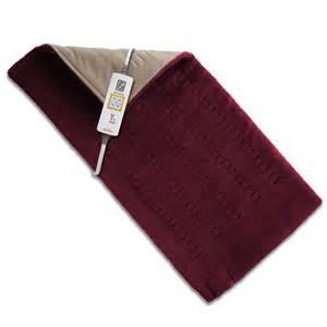 Heating Pad sunbeam 174 king size xpressheat burgundy heating pad