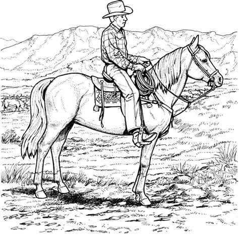 coloring pages of cowboys and horses coloring page cowboy coloring pages 6