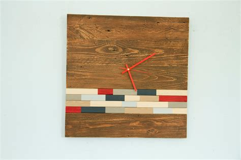 reclaimed wood divider reclaimed wood wall clock modern large wood clock with