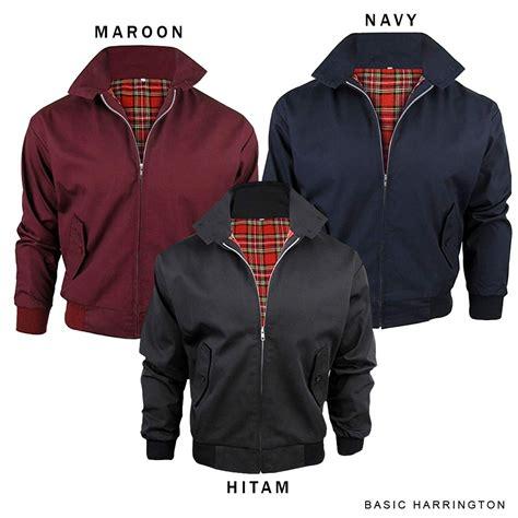 Harrington Maroon Jaket Pria jaket harrington polos waterproof shopee indonesia