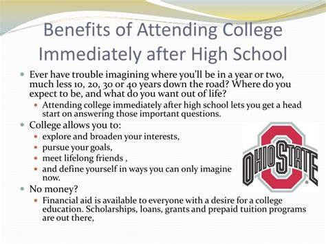 Benefits Attending College Essay by Ppt The Importance Of Higher Education Powerpoint Presentation Id 1641183