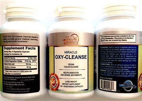 Hydrogen Peroxide Poisoning Detox by Miracle Oxy Cleanse 120 Vegetarian Capsules The One