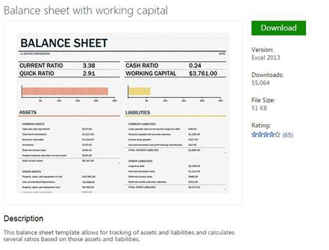 excel balance sheet template free tips for excel institute for automation research and