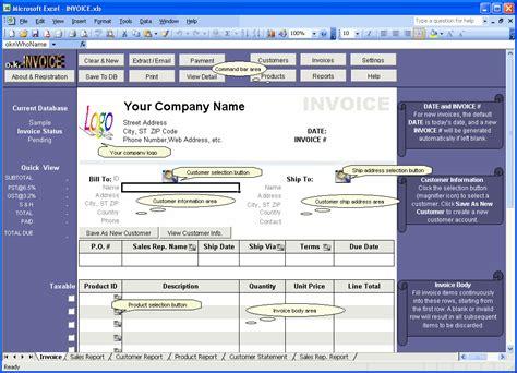 excel invoice vba software