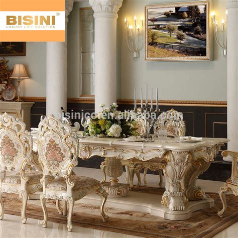 furniture long kitchen tables set and yellow long narrow bisini luxury italian baroque style palace hand carved