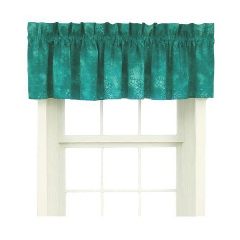 turquoise kitchen curtains caribbean coolers window valance turquoise 88x18 quot kitchen 29 99 home kitchen