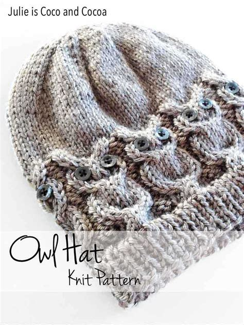 owl baby hat knitting pattern owl hat knit pattern julie measures