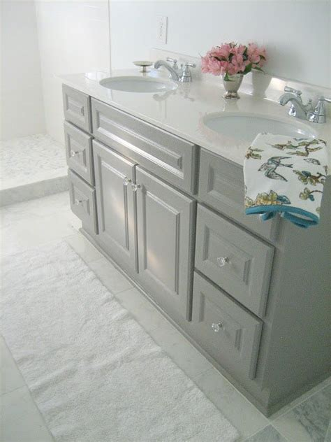 painted bathroom cabinet ideas diy custom gray painted bathroom vanity from a builder