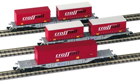 sgns wagen 825201 cross rail container wagons set of 3 era 5