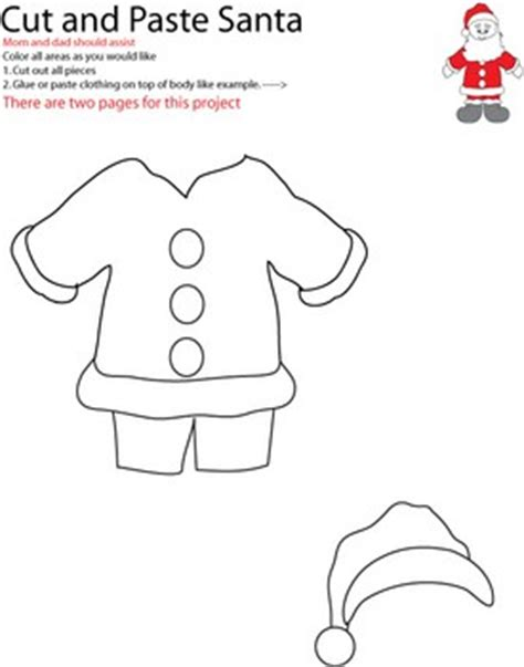 santa claus craft template santa claus cut out templates new calendar template site