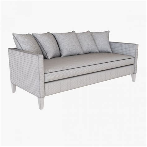 dunham sofa west elm west elm dunham down filled sofa toss back 3d model