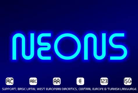 dafont neon neons font dafont com