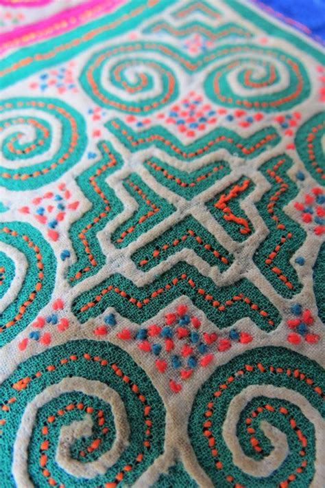 tribal pattern tutorial vintage hmong fabric handmade tapestry textiles hill