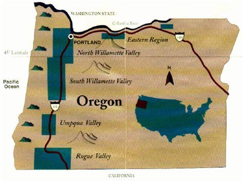 map of oregon wine country wine country maps on rick s winesite mcnees org winesite