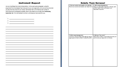 debate notes template in the city september 2013