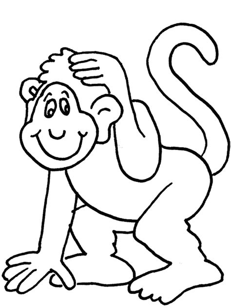 monkey face coloring pages coloring home