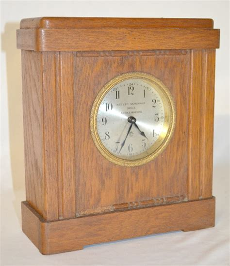 Vintage Caign Desk antique junghans coin operated desk clock with a set key wi