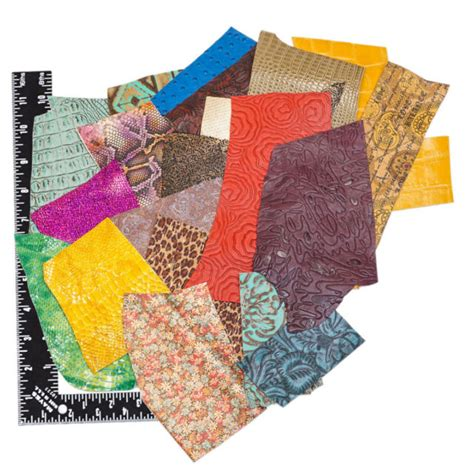 Cowhide Scraps For Sale - bright colorful embossed printed premium cowhide leather