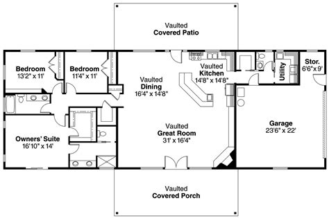 rectangular ranch house plans simple rectangle shaped house plans