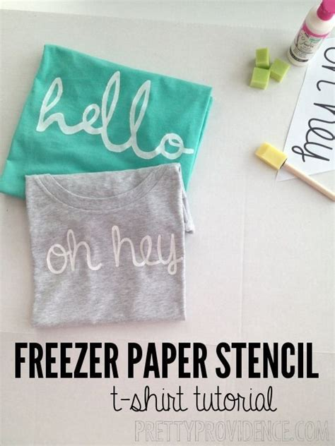 diy craft down diy crafts ideas diy freezer paper stencil shirt with hello or oh hey templates free to
