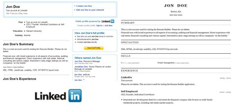 turn your linkedin profile into a resume resume ideas