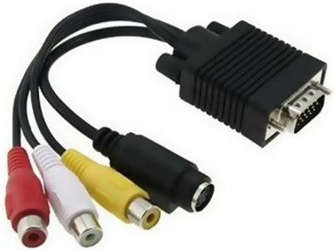Kabel Vga To Rca ntr cab30 vga dug 243 s cvbs rca aljzat k 225 bel