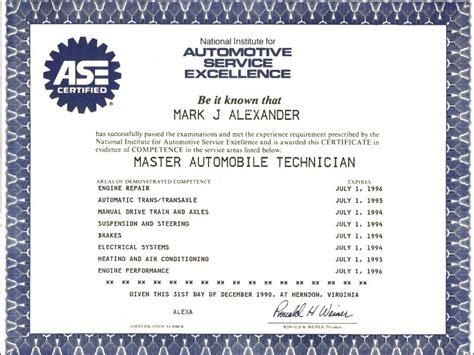 Mark Alexander   ASE