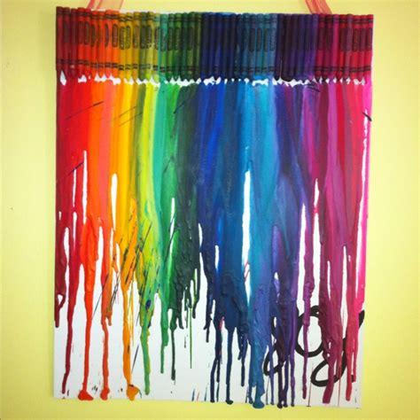 crayons hair dryer craft ideas