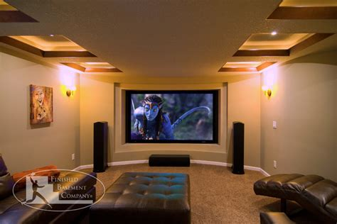 Basement Home Theater Basement Home Theater Wall Contemporary Home Theater