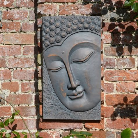 Buddha Wall Plaque Portrait Europa Leisure Uk Garden Wall Plaques
