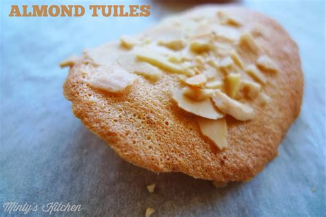 Biscuit Tuile by Minty S Kitchen Almond Tuiles
