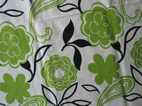Green Home Decor Fabric | cotton home decor fabric bold green floral black leaves on