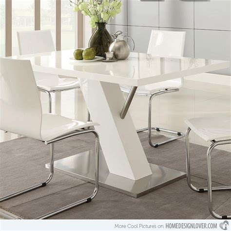 Modern dining contemporary white dining table with angled base