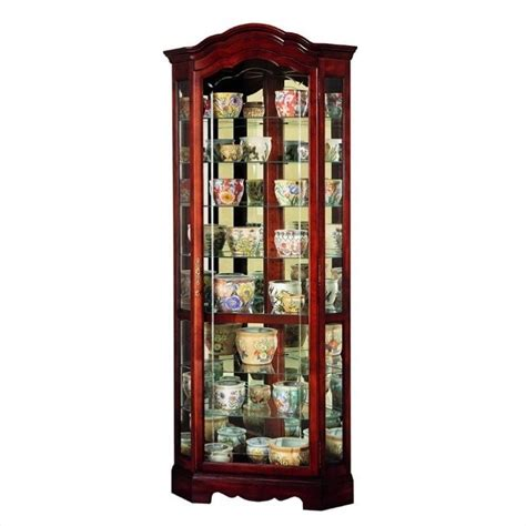 curio cabinet howard miller jamestown corner display curio cabinet 680249