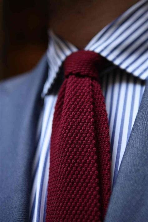 pattern shirt with striped tie knit ties for a sophisticated and elegant accessory