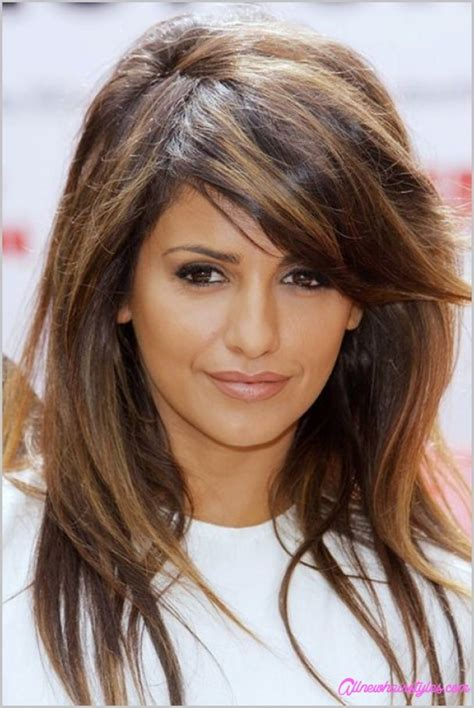 haircuts with two layers medium length haircuts with side swept bangs and layers