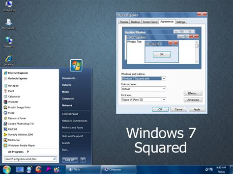 theme windows 7 visual style squared visual style for windows7