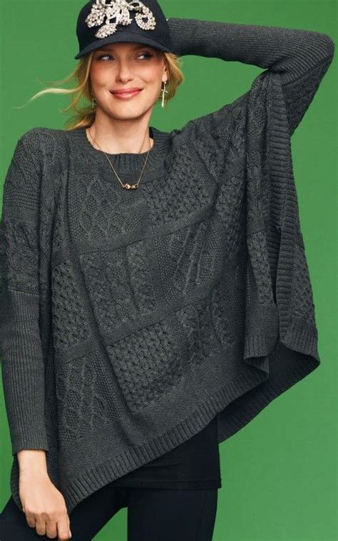 limited additions cabi cable poncho siren song collection limited addition piece