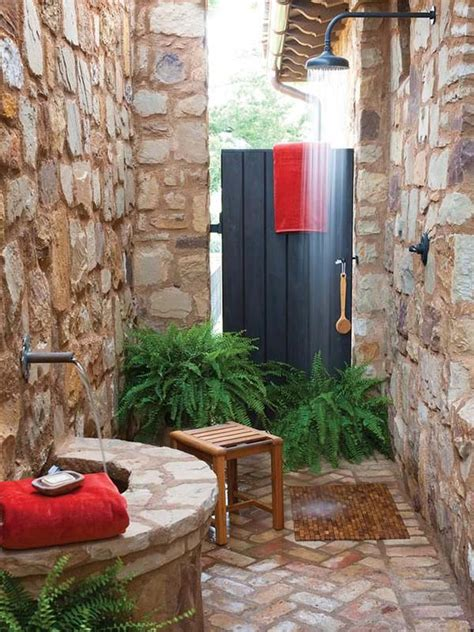Outside Bathroom Ideas by Great Outdoor Shower Ideas For Refreshing Summer Time Hative
