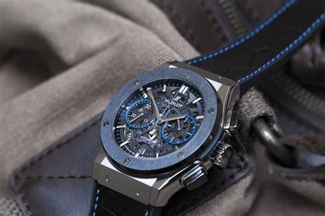 Hublot Classic Fusion Turbillon Blue Black Leather the gallery and hublot collaborate on limited edition classic fusion quot chronograph aerofusion quot