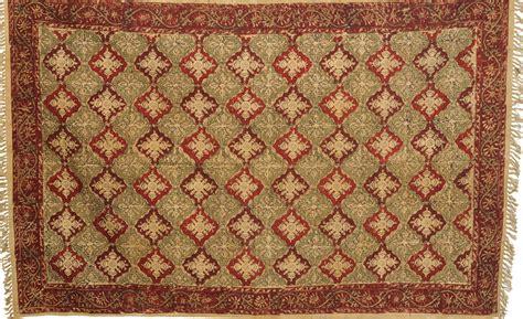 kalamkari rug maroon and green kalamkari dhurrie from telangana with floral print