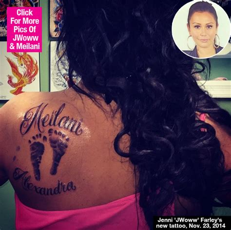 jwoww tattoos pic jwoww s for meilani on left shoulder