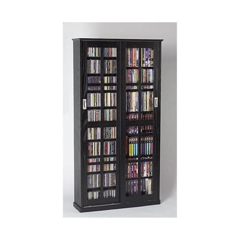dvd racks leslie dame cd dvd wall rack media storage in black