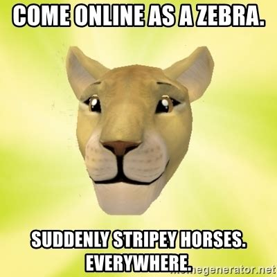 Meme Creator Feral Ghouls Feral Ghouls Everywhere Meme - come online as a zebra suddenly stripey horses