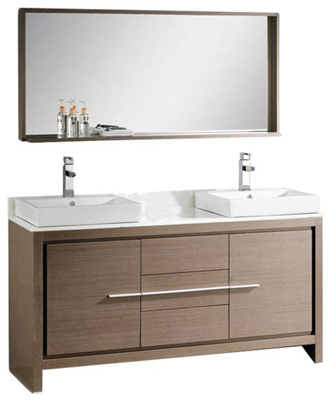 modern double sink bathroom vanities fresca allier 60 quot modern double sink bathroom vanity