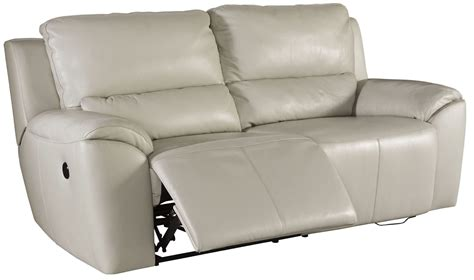 ashley valeton reclining sofa valeton cream 2 seat power reclining sofa from ashley