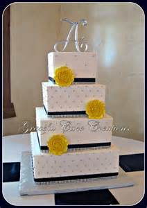 elegant white wedding cake with navy blue and silver bling flickr