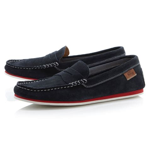 lacoste loafers lacoste chanler saddle loafers in blue for lyst